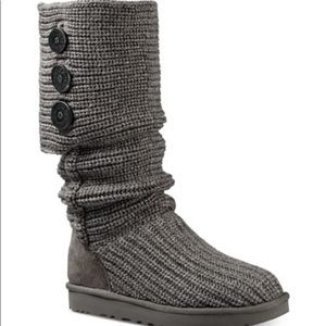 Women's Ugg Classic Cardy Boots in Grey sz 7